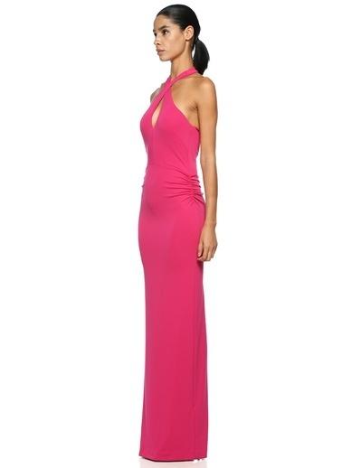 Nicole Miller abiye elbise Pembe